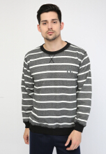 Stripped crewneck Hoodieku
