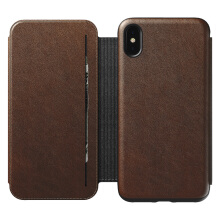 Nomad Rugged Tri-Folio Protective Leather Case for iPhone XS Max