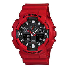 Casio G-SHOCK GA-100B-4A Sports waterproof electronic watch-Red