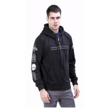 G-SHOP - MEN SWEATER JAKET HOODIES DISTRO PRIA - RDH 1479 - HITAM SIZE- M