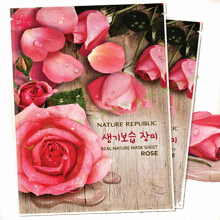 Nature Republic Masker Wajah Rose 1 sheet
