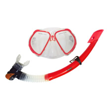 GODIVE Alat Selam Diving Snorkeling Mask & Snorkel Set M250+Box-Red - All Size