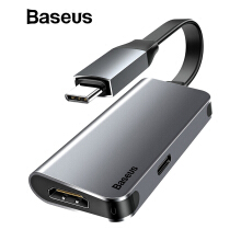 Baseus 2 in 1 USB Type C 3.0 HUB, Type C to 4K HDMI + Type C PD 60W Flash Charger OTG HUB Converter Adapter for Type-C Devices - 2 in 1 USB C 3.0 HUB