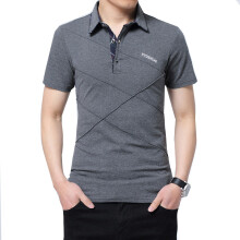 BestieLady Plus Cross line Argyle Polo Shirt