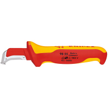 KNIPEX Tang Dismantling Knives Pengupas body kabel 98 55 Red