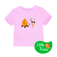LittleFresco - Kaos Anak Pink Cooler Hotter