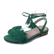 Jantens Ankle Strap Gladiator Sandals Women Flats 2018 Summer Tassel Shoes Ladies Wedding Beach Sandals