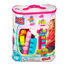 MEGA BLOKS Big Building Bag (80Pcs)(Pink) DCH62