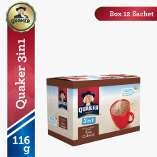 QUAKER 3 In 1 Chocolate Box 29g x 12pcs