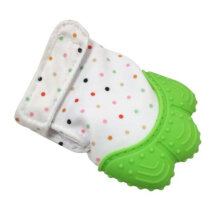 [kingstore] 1 Pcs Food Grade Silicone Baby Teether Toys Teething Mitten Molar Gloves Green
