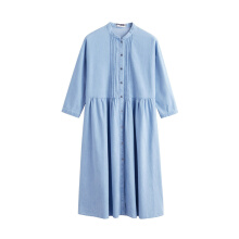INMAN 1881101296 Dress 2018 New Products Women Spring Clothes Stand Collar Cotton Loose  Dress