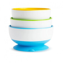 [free ongkir]Munchkin Stay Put Suction Bowl 3 Pack
