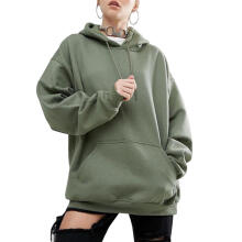 Farfi Casual Solid Color Loose Hoodie Women Bat Sleeve Sports Sweatershirt Plus Size
