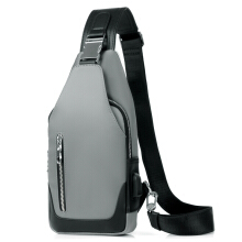 Wei's exclusive selection of fashionable men's shoulder bag comes with headphone hole Messenger bag B-AKS7901