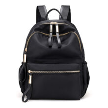 [LESHP]Fashion Women Ladies Oxford Cloth Backpack Small Size Travel Shoulder Bag Black