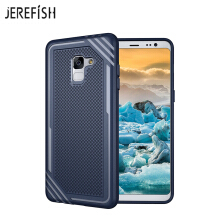 JEREFISH Samsung Galaxy A8 Plus 2018 Shockproof Phone Case Rugged Hybrid Hard PC Soft Silicone Full Body Protective Phone Cover