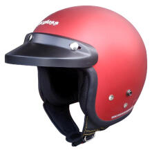 Cargloss Retro Helm Half Face - Deep Red Met Doff