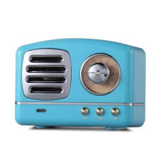 Jantens Retro Vintage Mini Bluetooth Speaker Nostalgic  Bass 3D Stereo Surround HiFi Sound Effects