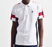 FILA Men's Prago Polo Shirt - White - L,XL