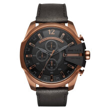 Diesel DZ4459 Mega Chief Analog Men Black Dial Brown Leather Strap [DZ4459]
