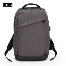 COZIME DTBG D8063W 15.6-Inch Oxford Cloth Backpack Unisex USB Charging Computer Bag Brown
