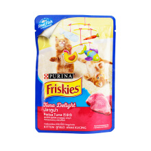Friskies Kitten Tuna Delight [80 g/ 12 pcs] Makanan Kucing Frsk Pouch / Frsk Saset Wet Food