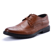 SiYing Fashion men's Brock carved lace dress shoes