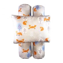COTTONSEEDS Pillow and Bolster Set Winter Fox