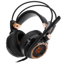 Shengmeiid Somic G941 Active Noise Cancelling 7.1 Virtual Surround Sound USB Gaming Headset with Mic Vibrating Function BLACK