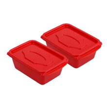 VICTORYHOME Food Box 500ml Set of 2 - Red Solid (Both of)