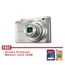 Nikon Coolpix A100 Silver - FREE Accessories