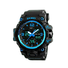 SKMEI Jam Tangan Pria Digital Analog 1155B Blue