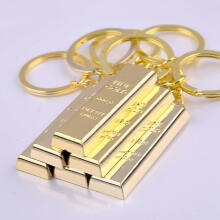Farfi Fashion Faux Gold Brick Charm Pendant Car Key Ring Holder Keychain Bag Ornament as the pictures