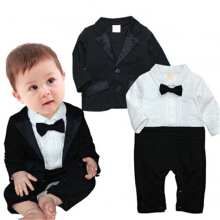 Boy suit, long-sleeved dress, baby suit, baby coat, two-piece suit.