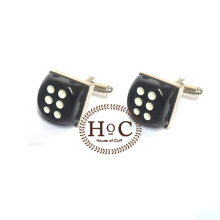 HOUSEOFCUFF Cufflinks Manset Kancing Kemeja French Cuff BLACK DICE CUFFLINKS Black