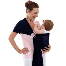 Jantens 2 Aluminum Adjustable Ring New Toddler Carrier Comfortable Breathable Baby Sling black Black