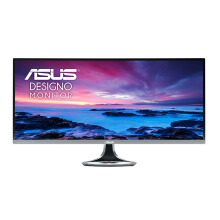 ASUS Designo Curved MX34VQ 34'' UWQHD (3440x1440) Monitor, VA ,  Harmon Kardon speakers, Qi wireless charging, Flicker free, Low Blue Light, TUV certified