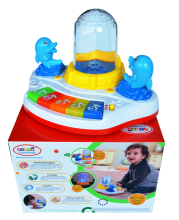 mainan bayi Music fountain dancing water keyboard