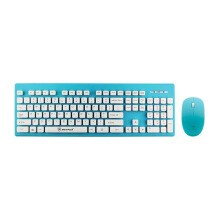 MICROPACK KM-232W Wireless Combo Keyboard Mouse - Blue
