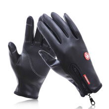 Fireflies business Men's motorcycle zipper leather gloves