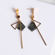 Jantens Simple Temperament Geometry Drop Earrings Hollow Triangle Alloy Strip Dangle Pendientes Earrings
