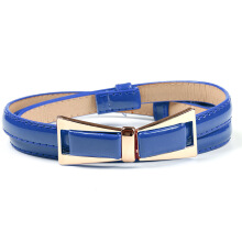 SiYing fashion Women's cute small fresh patent leather decorative belt