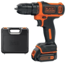 Black+Decker 10.8V Drill Driver Lithium 1 Battery Kitbox BDCDD12K-B1