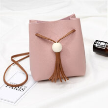 [COZIME] Colorful PU Leather Messenger Bag Women Girl Daily Wear Single Shoulder Bag Pink1