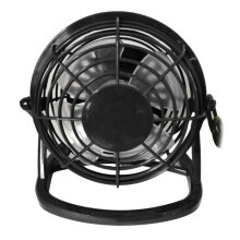 COZIME 4-Inch Mini Portable USB Plastic Fan Handheld Desk 4 Blades Cooling Black