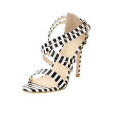 BESSKY Women Ladies High Block Heels Ankle Strappy Buckle Sandals Party Sandals Shoes_