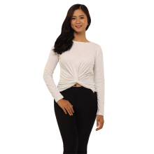 GapFit Twist-Front Long Sleeve Top- 14GFLS003