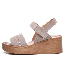 Jantens 2018 women sandals suede leather wedges heel flat sandals female beach gladiator sandals ladies platform sandals shoes 8