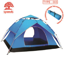 Tenda Camping Tenda Kemah Speeds 2-3 Orang Lipat Portable 210x140 003 Green