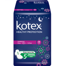KOTEX Soft & Smooth Overnight Trimax 28cm 14s